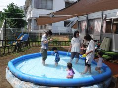 【けやきっ子】今年初!水あそびやりました!